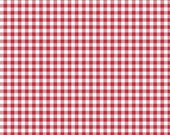Red Gingham Fabric - Riley Blake Bake Sale 2 Fabric by Lori Holt - Lori Holt Fabric By The 1/2 Yard or Fat Quarter