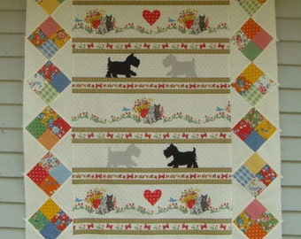 Puppy Love Quilt Kit with Spring-a-Ling Fabric by American Jane from Moda