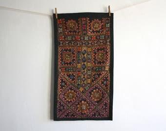 Vintage Banjara Embroidered Textile Wall Hanging