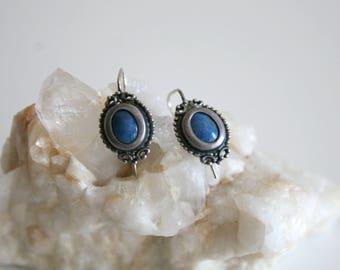 Sterling Lapis Lazuli Earrings