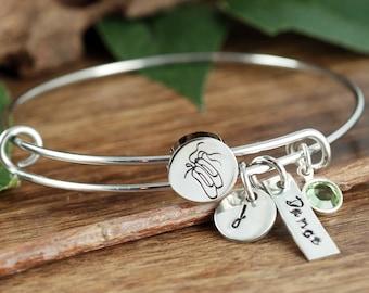 Personalized Dance Bracelet, Ballet Bracelet, Dance Jewelry, Dancer Bracelet, Ballerina Gift, Dance Gifts, Dance Recital Gift, Gift for Her