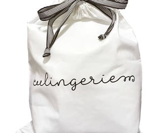 Personalized Lingerie Travel Bag with Drawstring