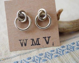 Modernist Silver Knot Earrings | Posts