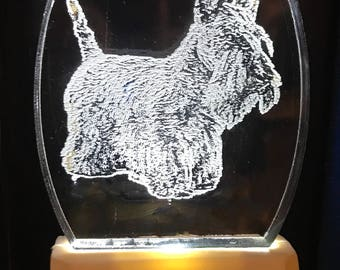 Scottish Terrier Scotty nightlight personalized designed by Deborah Houser
