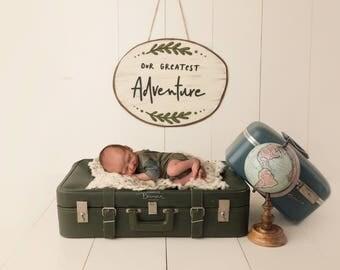 "Newborn Digital Backdrop Boy or Girl-""The Voyage""- Adventure- Newborn Photography- Digital Background- Download"