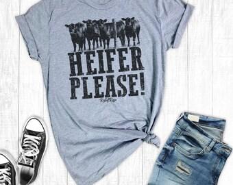 Cow Shirt, Heifer Please, Southern Shirts, Cow Lover TShirt, Country Shirt, Cowgirl Shirt