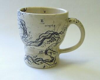 River Frontage Compass Mug