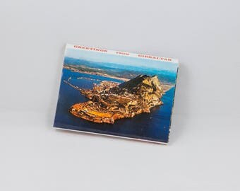 Vintage Souvenir Postcard Book Booklet Gibraltar  European Holiday