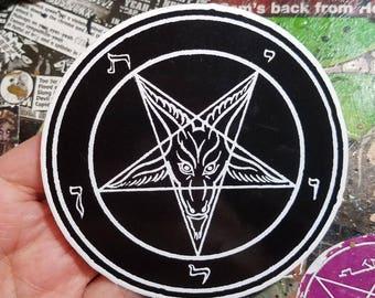 Vinyl Sticker - Baphomet pentagram sigil
