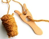 lucet - knitting fork - cord making tool -beech