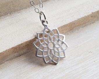 Crown Chakra Necklace, Sterling Silver Crown Chakra Necklace, Yoga Necklace, Chakra Necklace, Yoga Jewelry, Chakra Jewelry, 7th Chakra