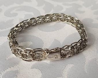 Sterling Charm Bracelet, Sterling Double Link Charm Bracelet, Charm Bracelet, Sterling Bracelet