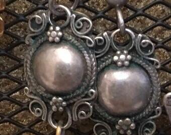 Aventurine and silver drop earrings