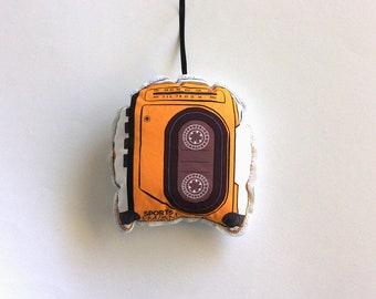 Walkman Christmas Ornament: 1990s cassette player