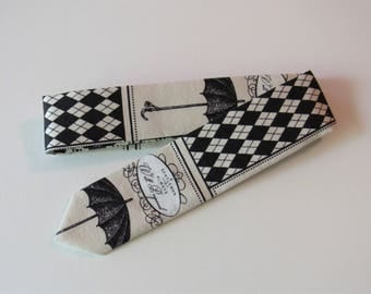 Gentlemen's Necktie // Skinny Tie in Cotton & Silk