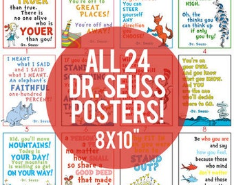 "8x10"" - Pack of 24 Dr. Seuss LDS Youth DIGITAL Printable Posters"