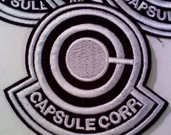 Dragonballz Capsule Corp. Iron on/Sew on Patch