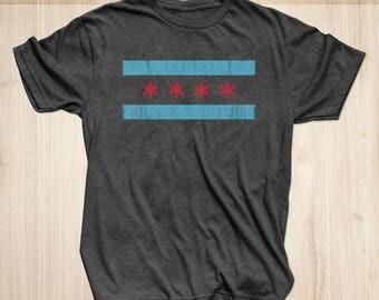 Chicago Flag Shirt | Chicago Flag T-shirt | Chicago T Shirt