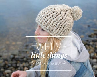 KNITTING PATTERN // Chunky Toque, Chunky Beanie, Knit Toque, Knit Beanie, Chunky Knit Hat, Knit Hat, Chunky Hat, Chunky Knit Beanie