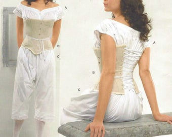 Womens Historical Corset, Drawers and Chemise Simplicity Sewing Pattern 2890 Size 16 18 20 22 24 Bust 38 40 42 44 46 Civil War Re-Enactors