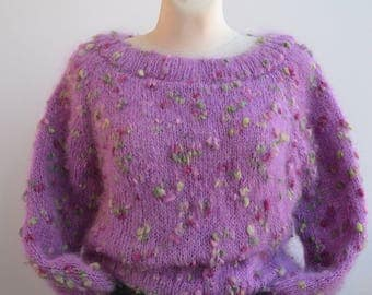 Hand knitted sweater, mohair oversized sweater, loose knit sweater, oversize sweater, READY TO SHIP, women sweater, women oversize, cover up