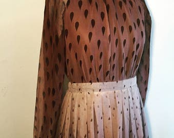 Vintage 70s Brown Sheer Maxi Dress