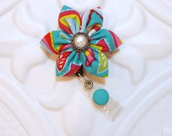 Retractable Badge Holder - Id Badge Reel - Badge Holder - Teacher Lanyard - Nurse Badge Holder