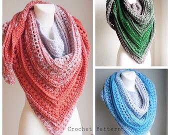 Crochet Pattern / Crochet scarf Pattern / Crochet Shawl Pattern / Crochet Scarf / Crochet Shawl