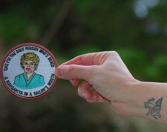 Back To School Sale Blanche Devereaux Patch Free shipping (USA) Embroidered Patch heat seal iron on patches golden girls ® gift diversity ga