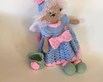 Crocheted Fairy Doll - Handmade Fairy Doll - Amigurumi Doll - Plush Doll - crocheted doll