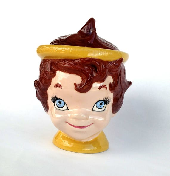 Vintage 1960's Kitschy Cute Angel Cookie Jar - You're An Angel Have One