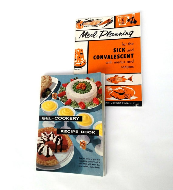 Set of 2 Vintage 1950's Gelatin Cooking Cookbooks by Knox Gelatine Company
