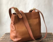 COACH 4157 SOHO Bucket Feed Brown Leather Tote