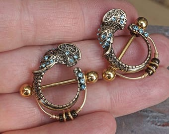 Elephant Gold Nipple Shield Nipple Ring Nipple Bar