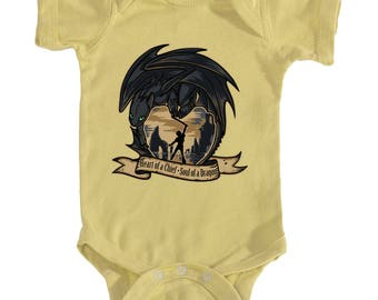 ONESIE SNAPSUIT -- Toothless Hiccup Heart of a Chief, Soul of a Dragon - How To Train Your Dragon 2