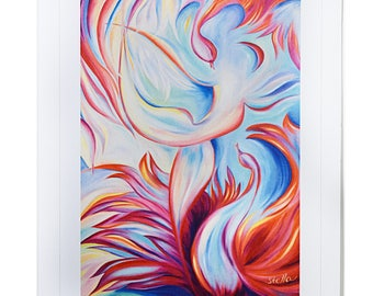 YOGA SERIES Greeting Card BOW  - 5x7 from Original Oil Painting