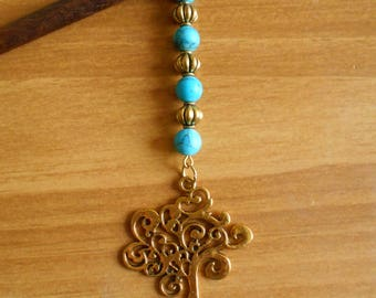 Tree of Life - magnesite and gold tree hair stick, long hair, hair pin, elf, elvish