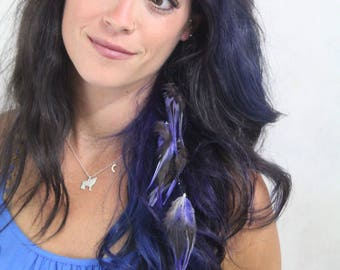 Purple Feather Hair Extension - lavender Feather Extension Clip In - Hair Feathers