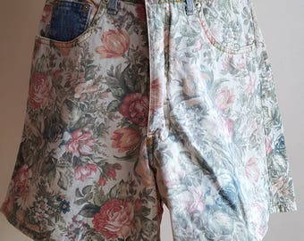 Vintage Floral Shorts - 180's Shorts - Size XS