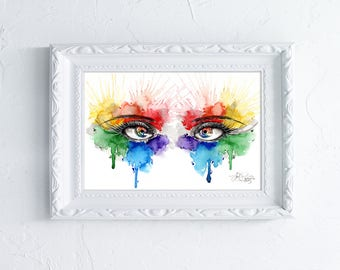Eyes of Color - Art Print - Illustrated by Jessica Thomas