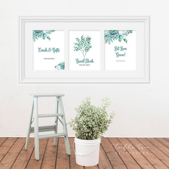 Reception Signs/Various - Teal Garden (Style 13744)