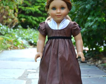 Doll Dress Regency Silk for American Girl 18 inch doll Caroline Josephina