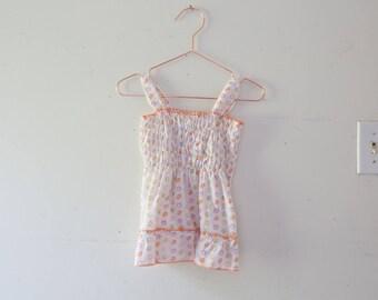 Vintage Baby Tank Top Shirt Vintage Polka Dot Baby Toddler 18 Months 18m