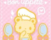 Bon Appetit Bear Enamel Pin - Chef Bear and Spoon Lapel Pin Set