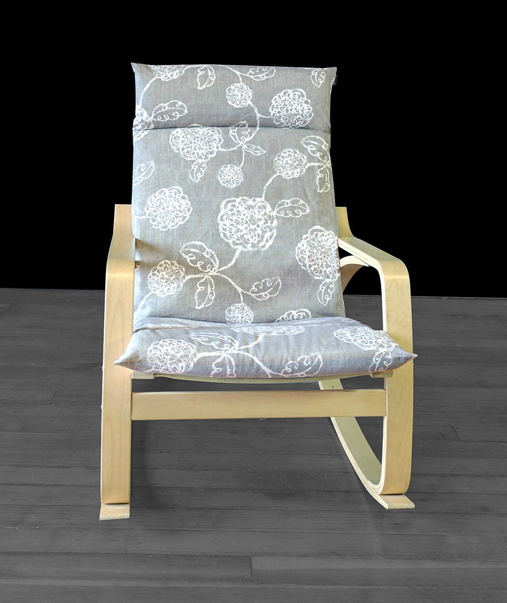 magnolia ikea poang chair cover flower ikea seat cover. Black Bedroom Furniture Sets. Home Design Ideas