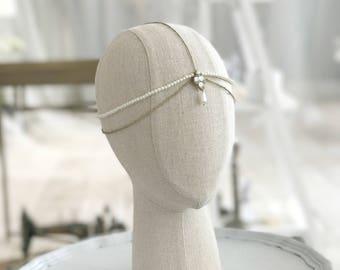Wedding head chain, Bridal head chain, Wedding hair chain, Bridal hair chain
