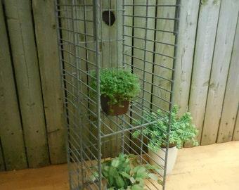 Vintage Industrial Galvanized Wire Crate