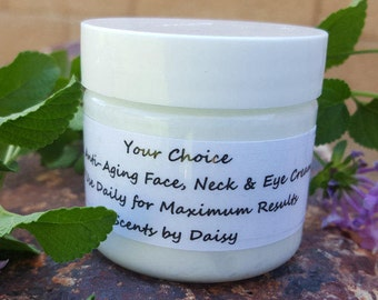 Frankincense - Face, Neck & Eye Cream - Promotes Regeneration of Healthy Cells -  2 or 4 oz. Jar