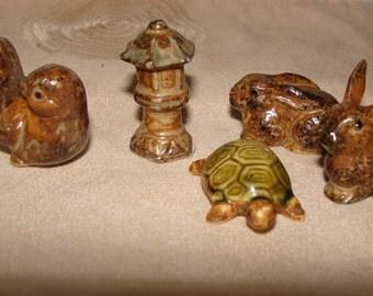 Miniatures Your Choice of Bunnies, a Bird, a Turtle or a Tiny Garden Pagoda