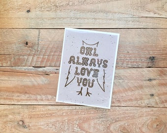 Owl Always Love You, LOVE Wedding Marriage Anniversary, 4.5x6 card with envelope